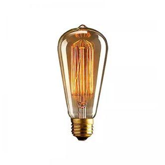 Lampada Retrô Filamento Carbono ST64