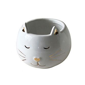 Pote Decorativo de Cerâmica Gato P