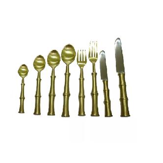 Cj de Talheres - 8 Pçs Metal Dourado