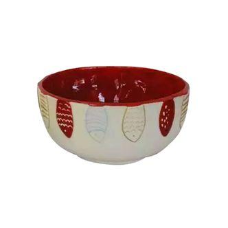 Bowl Cerâmica Peixes Vermelho