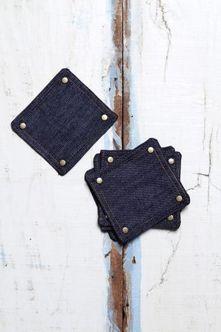 Jogo com 6 Portas Copo Indigo Azuis - Estilo Jeans