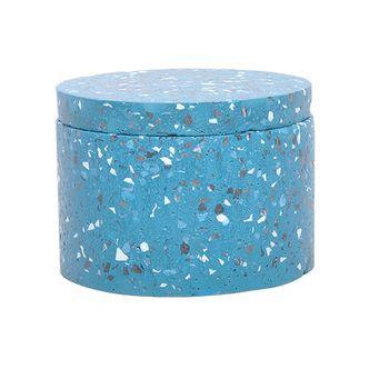 Pote Decorativo de Cimento Azul M