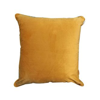 Almofada Veludo Amarela Lisa