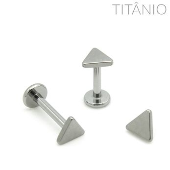 Labret Triangulo Titânio