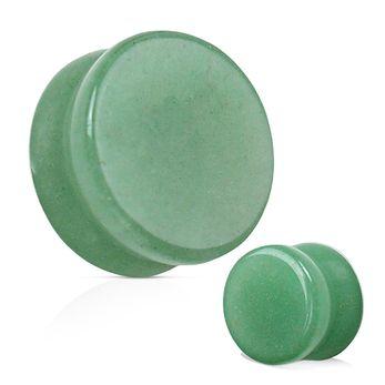 Plug Pedra Jade Aventurina