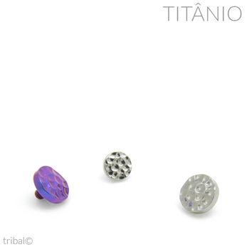 Topo Disco Martelado Titânio