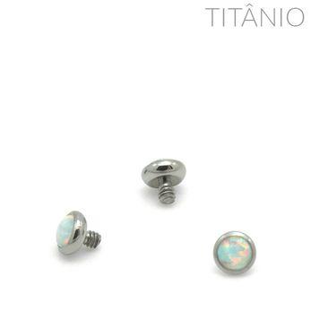Topo Disco Flat Opala Titânio