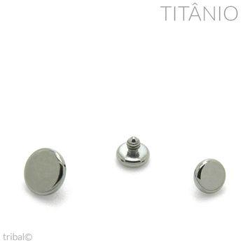 Topo Disco Flat Titânio