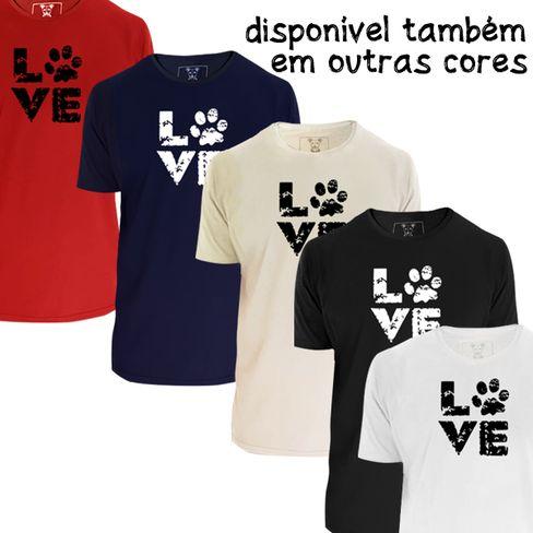 Camiseta unisex: Love. Cor Preta.