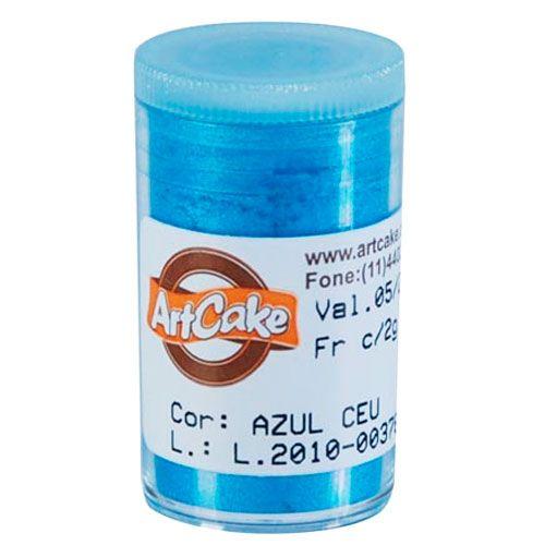 Pó Brilhante para Acabamento ArtCake - Azul Céu