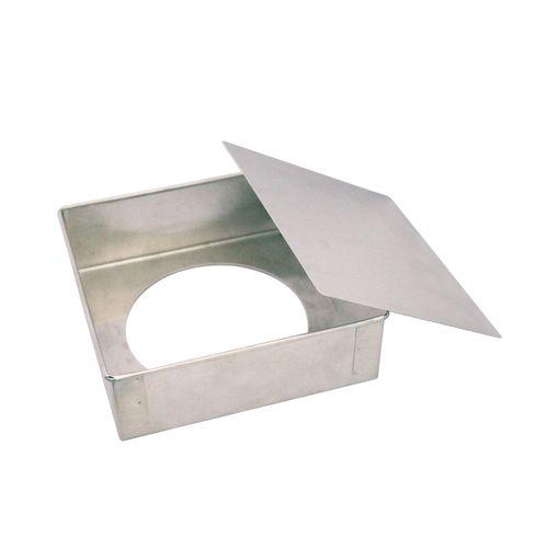 Forma de Bolo Quadrada Fundo Falso - 20 x 6,8cm