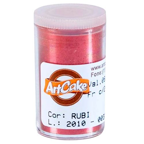 Pó Brilhante para Acabamento ArtCake - Rubi