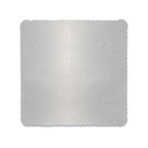 Base para Bolo Cakeboard Quadrada Prata 28cm (10uni) – Ultrafest