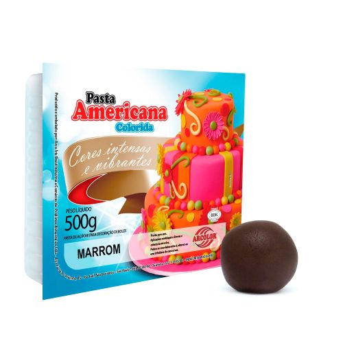 Pasta Americana Marrom 500g - Arcolor