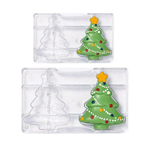 Forma de Chocolate em Policarbonato Árvore de Natal Pequena - Decora