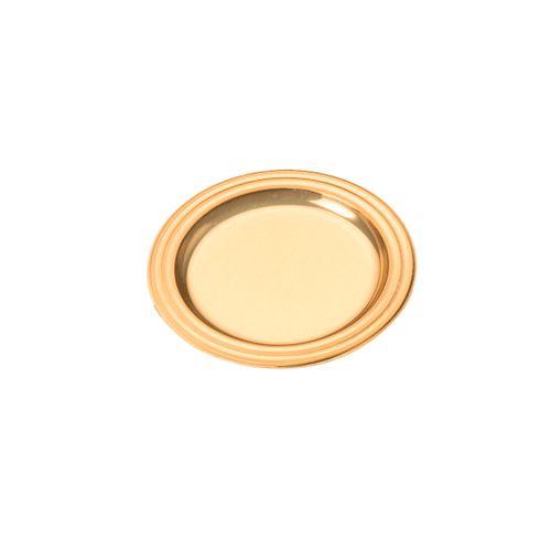 Mini Bandeja Dourada Redonda 3,7cm (25uni) - Stalden