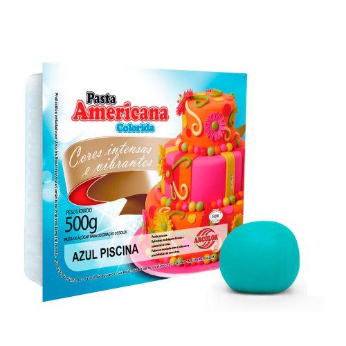 Pasta Americana Azul Piscina 500g - Arcolor