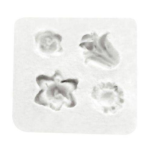 Molde de Silicone 4 Flores - Gummies
