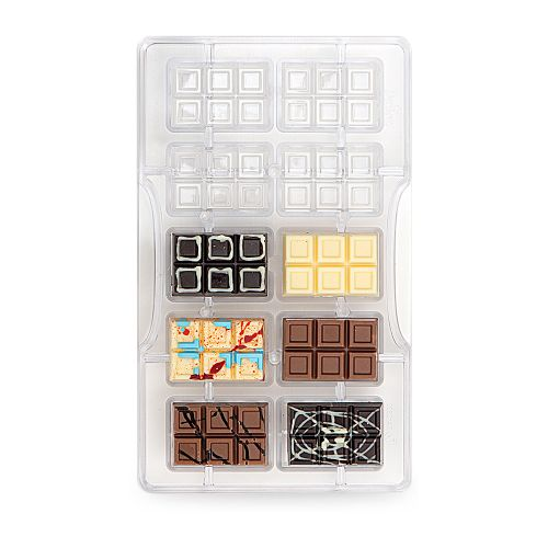 Forma de Chocolate em Policarbonato Tablete/Barra Piccola - Decora