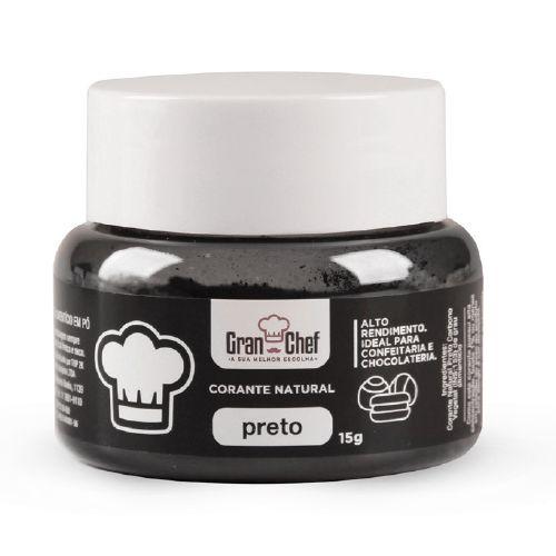 Corante Hidro/Lipossolúvel em Pó para Chocolate Preto (15g) - Gran Chef