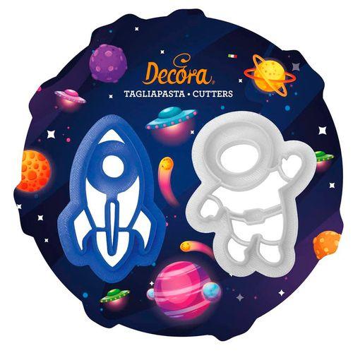 Kit Cortadores Astronauta e Foguete (2pcs) - Decora