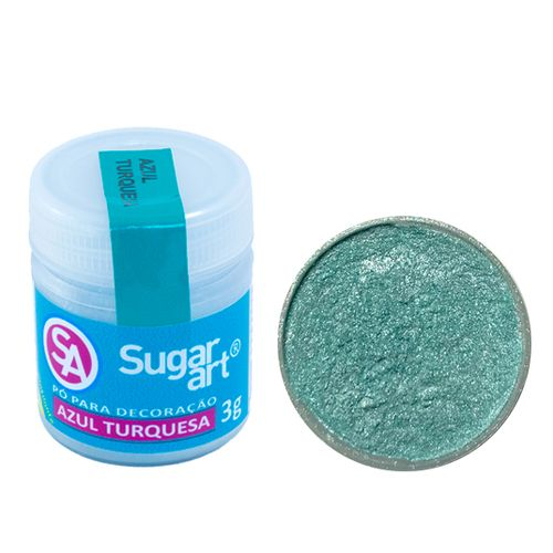 Corante em Pó 3g Sugar Art - Azul Turquesa