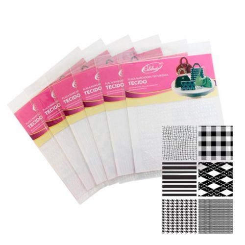 Kit Placa de Textura para Chocolate e Bolo Tecidos - Celebrate