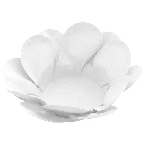 Forminha para Doce Flor Dupla Lisa (40uni) - Branca