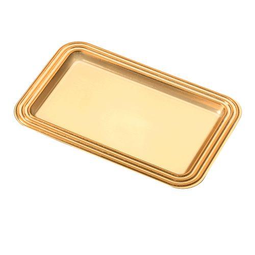 Mini Bandeja Retangular Dourada 5,5 x 10cm (25uni) - Stalden