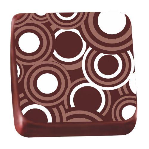 Transfer para Chocolate (40 x 30cm) - Círculos Branco
