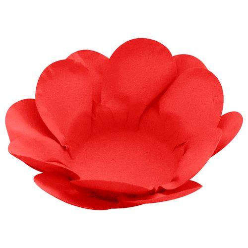 Forminha para Doce Flor Dupla Lisa (40uni) - Vermelha