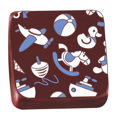 Transfer para Chocolate (40 x 30cm) - Brinquedos Azul