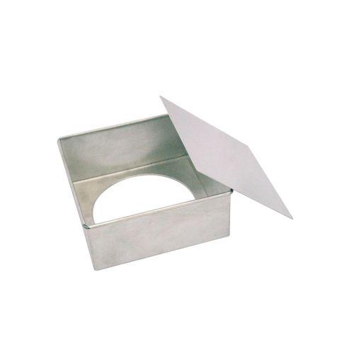 Forma de Bolo Quadrada Fundo Falso (15 x 6,8cm) - Doupan