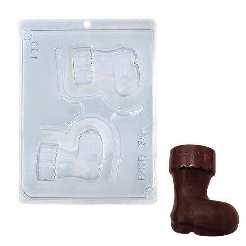 Forma PVC com Silicone Bota Feliz Natal - BWB