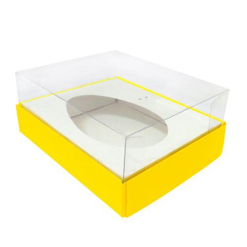 Caixa Ovo de Colher 250g Amarela (10uni) - ArtCrystal