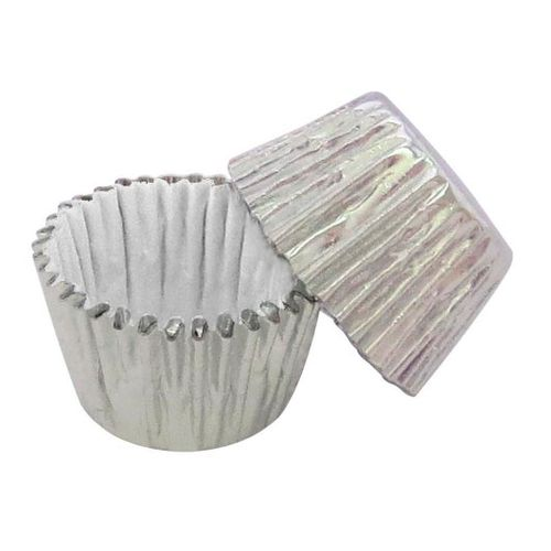 Forminha de Brigadeiro Prata Metalizada nº 4 (50uni) - Polipel