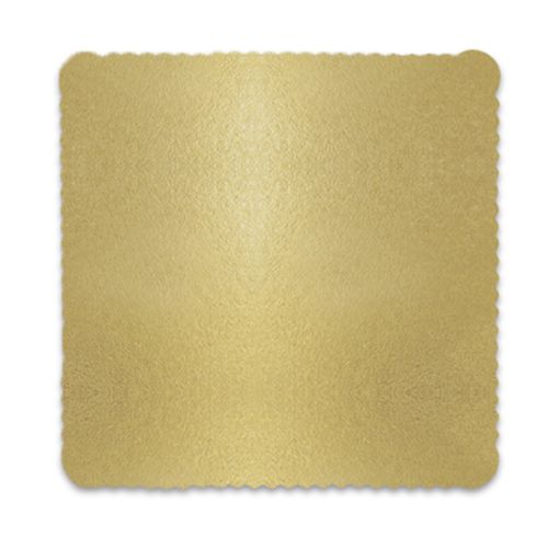 Base para Bolo Cakeboard Quadrada Ouro 32cm (10uni) – Ultrafest