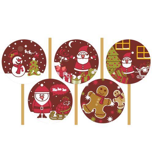 Blister Pirulito de Natal - Personagens (5 uni)