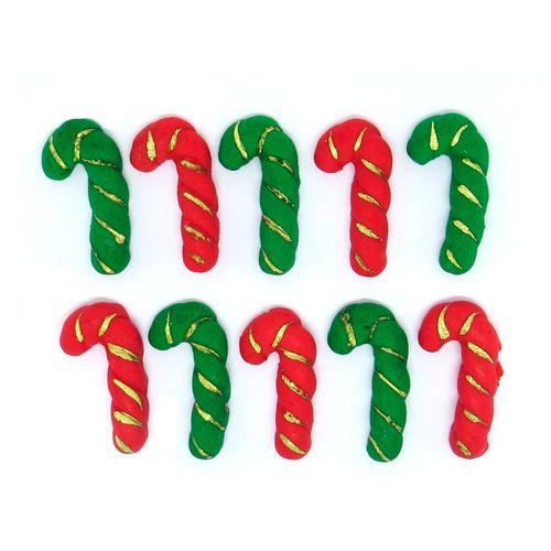 Enfeite de Natal em Açúcar Bengala (10uni) - Jady Confeitos