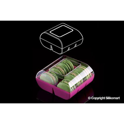 Macadò Caixa Expositora para 6 Macarons Marrom - Silikomart
