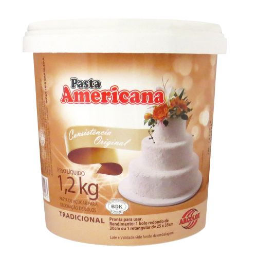 Pasta Americana Branca Tradicional 1,2kg - Arcolor