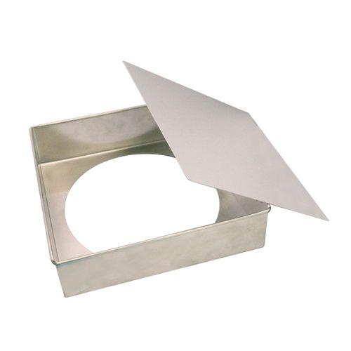 Forma de Bolo Quadrada Fundo Falso (25 x 6,8cm) - Doupan