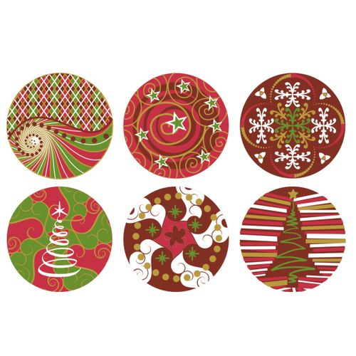 Blister Bola de Natal de Chocolate 3cm (63uni) - Decoradas