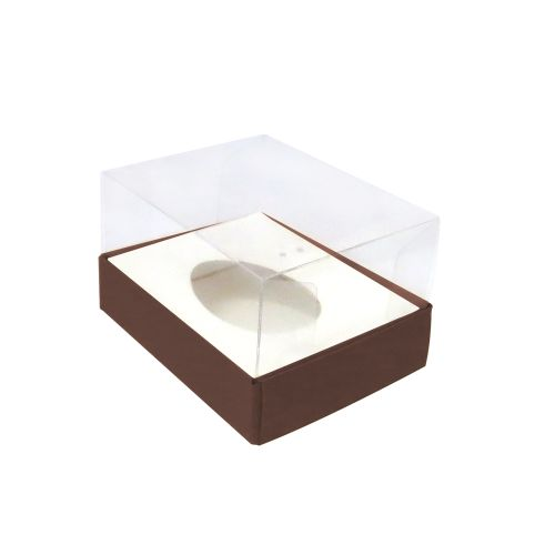 Caixa Ovo de Colher 50g Marrom (5uni) - ArtCrystal