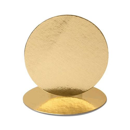 Base Laminada Redonda Dourada para Bolos 25,0cm (5uni)