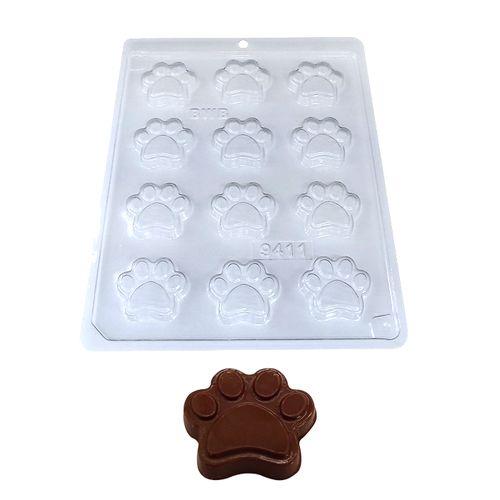 Forma de Chocolate Acetato Pata de Cachorro (10 uni) - BWB