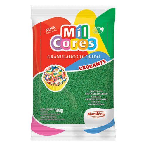 Granulado Crocante Verde 500g - Mil Cores