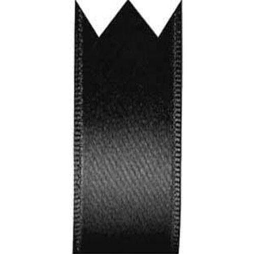 Fita Cetim Simples Preto (2,2cm x 10m) - Progresso