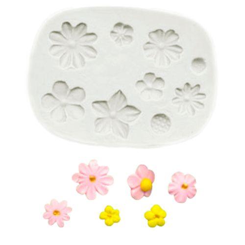 Molde de Silicone Conjunto de Flores - Gummies