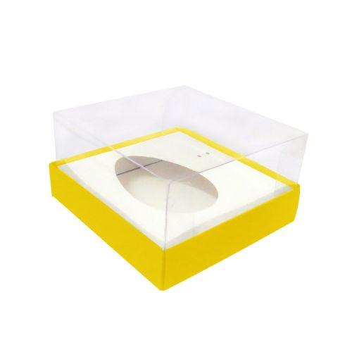 Caixa Ovo de Colher 100/150g Amarela (5uni) - ArtCrystal
